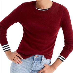 J. Crew 100% Cashmere Sweater in Burgundy